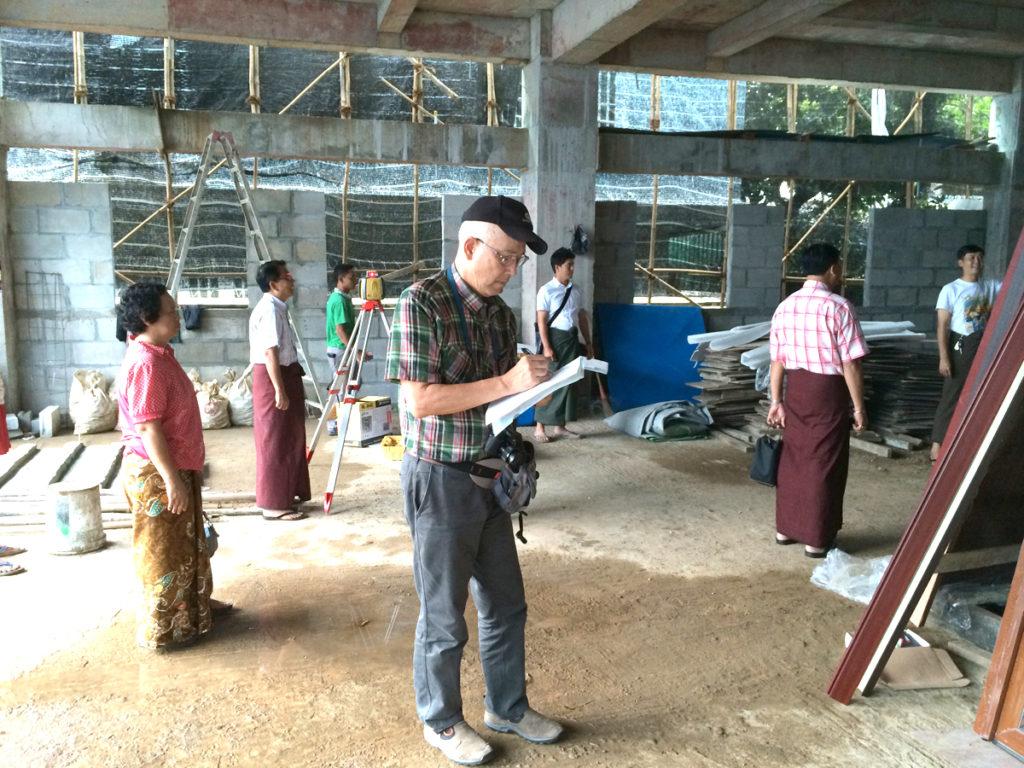 ミャンマーの現場調査風景2